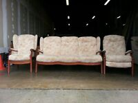 FABRIC CINTIQUE WINCHESTER SET 3 SEATER / SOFA WITH PILLOWS CHAIR / ARMCHAIR & RECLINER CONSERVATORY