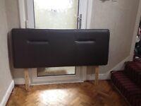 Brown king size leather effect headboard £50