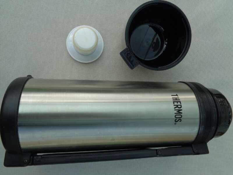 Genuine THERMOS UK 1.8L Stainless Steel Heavy Duty Vacuum Insulated Flask , used for sale  Ratby, Leicester