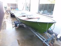 14Ft Fulmar boat. Swivel fishing seats. Snipe galvanised road and launch trailer.