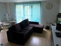 L-Shape Corner Sofa Bed With Lift Up Storage