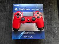PlayStation 4 controller magma red