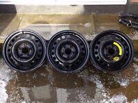 """Vauxhall 15"""" Steel Wheels Rims 5x110pcd ASTRA CORSA COMBO MERIVA VECTRA ZAFIRA"""