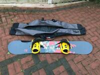 Volkl Snowboard , drake bindings and bag
