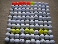LOT of 100 GOLF BALLS. TAYLOR MADE; WILSON STAFF and NIKE. IDEAL for PLAY or PRACTISE.