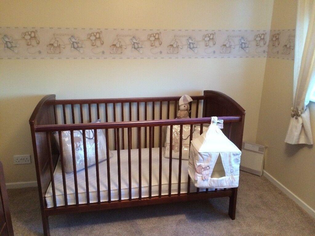Mama And Papa Nursery Furniture Set Wardrobe Drawers Cot Bed