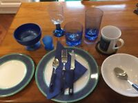 Good Quality Melamine Dishes & Quest Glasses Various Sizes Plus other Bits & Pieces