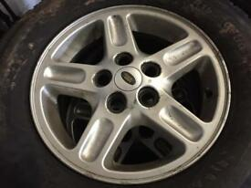 Land Rover discovery Td5 alloy wheels and tyres