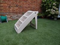Solvit Foldawa Pupstep Plus Dog or Pet Foldable Access Steps Stairs in Plastic
