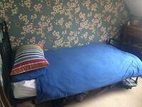 Single bed frame, black, Laura Ashley
