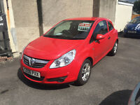 Vauxhall Corsa 1.2 Petrol 3 Door Hatchback Manual Red 2008 Lovely Car