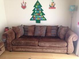4 seater sofa + storage foot stool.
