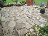 York Paving stone , various sizes and depths. Covers approx 15sq. m
