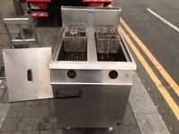 CATERING COMMERCIAL GAS FRYER TWIN TANK FALCON CAFE KEBAB FISH CHICKEN RESTAURANT TAKE AWAY SHOP