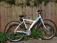 B'TWIN Hybrid Bike - White