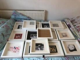 Job lot of 16 white Ikea Ribba picture frames