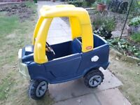 Little Tikes Blue and Yellow Taxi Car