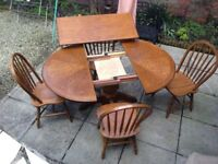 Dining Kitchen Table & Chairs Extendable