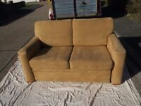 small camel coloured sofa bed good condition