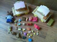 SYLVANIAN Bundle of Sylvanians toy wagons and toys