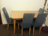 *Urgent Sale* Sofa 2+1 & Dining table 4 chairs & New double mattress & child bed