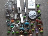 Nintendo wii with lots of skylanders for sale
