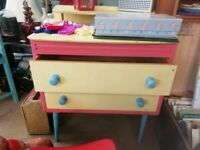 Children's storage,playing unit, drawers in good condition and sturdy