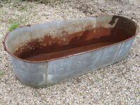 vintage tin bath /planter