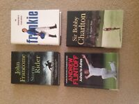 4 Hard Back Books for sale,