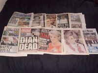 10 NEWSPAPERS,DIANA PRINCESS OF WALES DEATH 1997