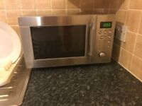 Clean silver microwave