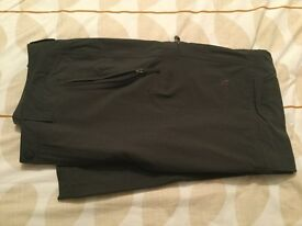 """Men's North Face Conversion trousers. 36"""" waist. Charcoal grey. Fab condition."""
