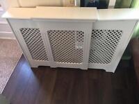 White mdf extendable radiator cover