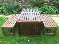 Wooden Garden Furniture set for sale - significant reduction