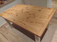 Table kitchen Dining Farmhouse Solid Pine