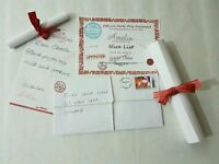 Hand written letters from Santa Claus
