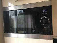In built integrated combi microwave and grill