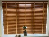 Blinds2Go - European Oak & Honey Wooden Blind with Tapes - 35mm Slat Various Sizes (Clayton Corner)