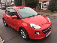 2014 64 VAUXHALL ADAM RED 1.2 17200mil CHEAP INSURANCE EXPENSIVE CORSA ASK NEW