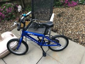 "Beautiful ridgeback 16"" blue bike"