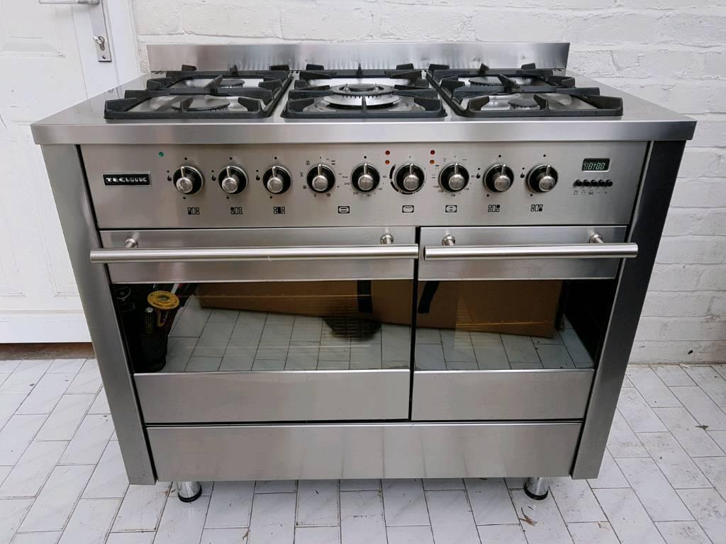 Range Cooker dual fuel range cooker with and splashback 100cm tecnik in