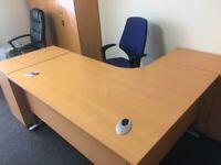 Office desk and 3 drawer pedestal