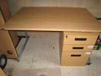 Desk with chair and separate draw unit