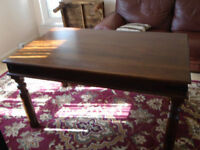 SHEESHAM,JALI INDIAN HARDWOOD(OAK)DINNING TABLE/DESK,DELIVERY POSSIBLE