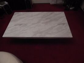 "Lovely Marble Effect Coffee Table 48"" x 30"" Inches Excellent Condition Very Heavy."