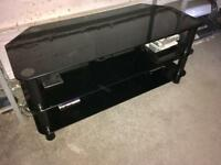 TV unit, Black tempered glass, large, excellent condition