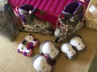 Kids Inline Skates and pads