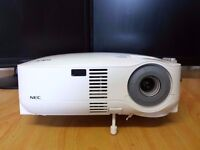 lcd projector,nec vt59,1024x768 resolution in great condition with low lamp hours used