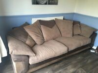 3 seater sofa with scatterback cushions