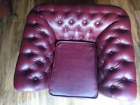 Leather Chestefield Armchair